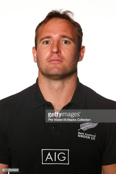 Scott Pinfold poses during the New Zealand U20 Headshots Session at Novotel Auckland Airport on April 22 2017 in Auckland New Zealand