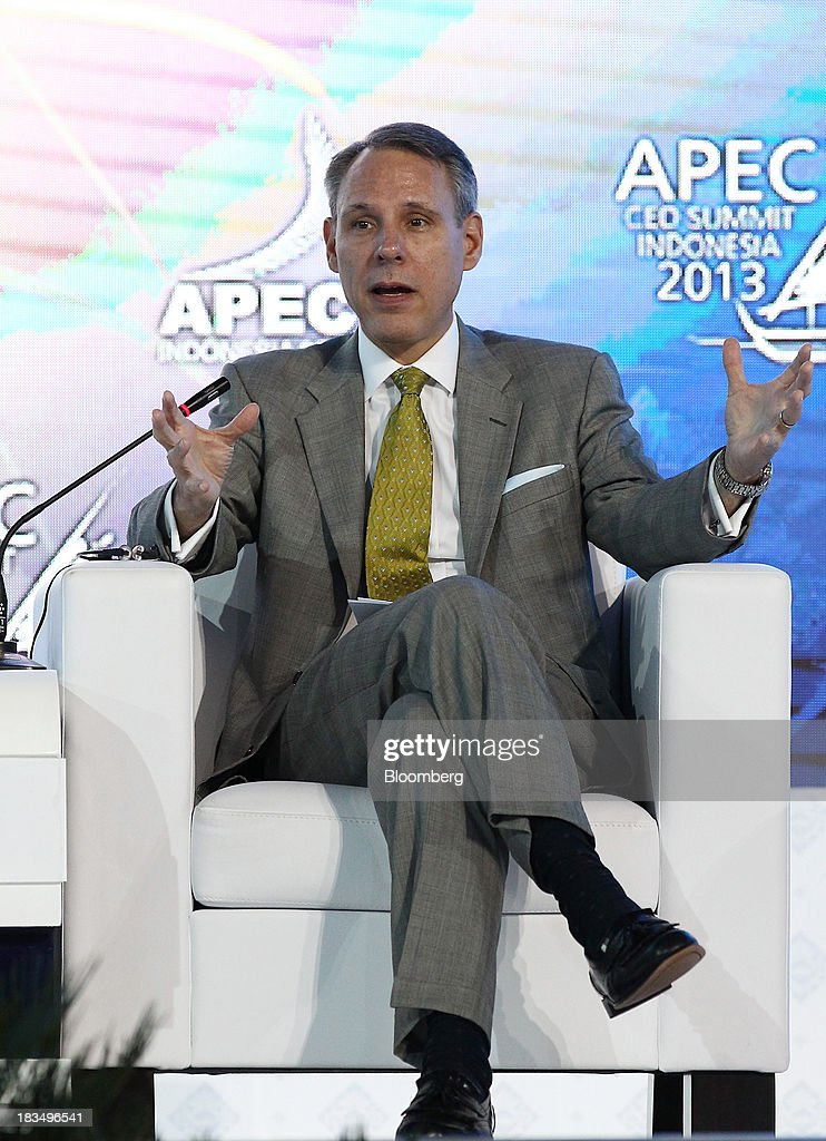 Scott Price, chief executive officer for Asia at Wal-Mart Stores Inc., speaks during a panel discussion at the Asia-Pacific Economic Cooperation (APEC) CEO Summit in Nusa Dua, Bali, Indonesia, on Monday, Oct. 7, 2013. Asia-Pacific governments are calling for vigilance against protectionism as economic growth slows in parts of the region and completion of a 12-nation trade accord looks set to be delayed further. Photographer: SeongJoon Cho/Bloomberg via Getty Images