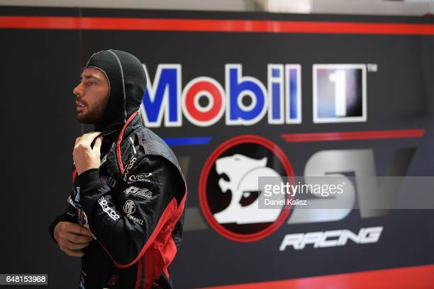 Scott Pye driver of the Mobil 1 HSV Racing Holden Commodore VF during qualifying for race 2 of the Clipsal 500 which is part of the Supercars...