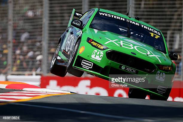 Scott Pye drives the DJR Team Penske Ford during practice for the Gold Coast 600 which is part of the V8 Supercars Championship at the Surfers...