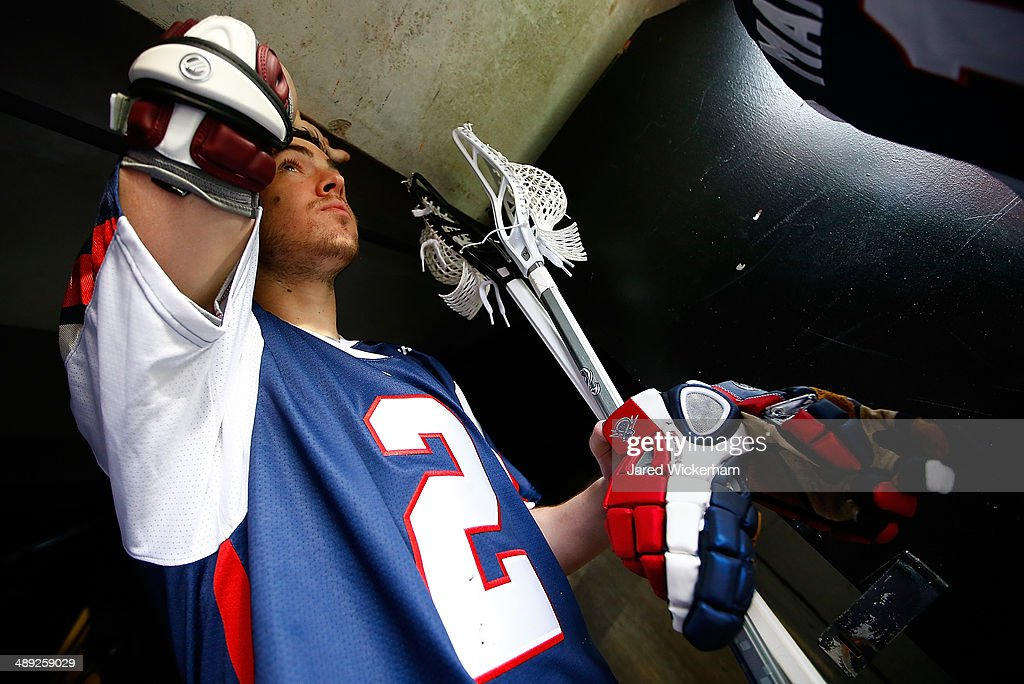 Scott Ratliff #2 of the Boston Cannons walks out to the field prior to the game against the Denver Outlaws at Harvard Stadium on May 10, 2014 in Boston, Massachusetts.