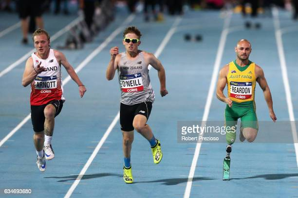 Scott Reardon of Australia competes in men 100 metre ambulatory during the Melbourne Nitro Athletics Series at Lakeside Stadium on February 11 2017...