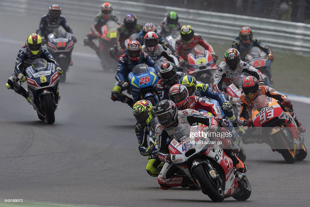 Scott Redding of Great Britain and Octo Pramac Racing leads the field during the MotoGP race during the MotoGP Netherlands - Race at on June 26, 2016 in Assen, Netherlands.