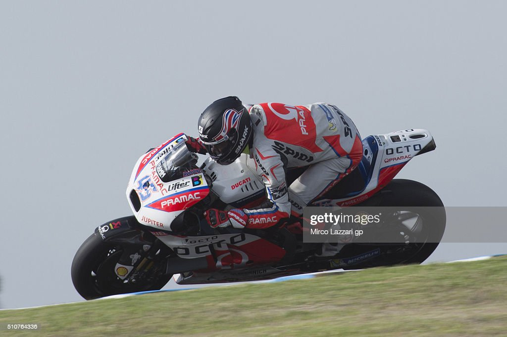 Scott Redding of Great Britain and Octo Pramac Racing rounds the bend during the 2016 MotoGP Test Day at Phillip Island Grand Prix Circuit on February 17, 2016 in Phillip Island, Australia.