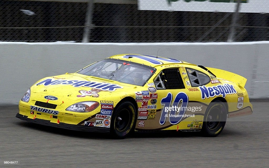 Scott Riggs battles to hold the NASCAR Busch series points lead during the Target House 200 at North Carolina Speedway Saturday November 8 2003 Riggs...