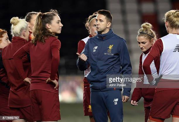 WIDNES ENGLAND NOVEMBER 11 Scott Rogers manager of Liverpool ladies during the WSL match between Liverpool Ladies and Birmingham City Ladies at...