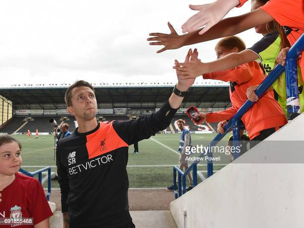 Scott Rogers of Liverpool Ladies during a WSL 1 match between Liverpool Ladies and Manchester City Women at Select Security Stadium on June 3 2017 in...