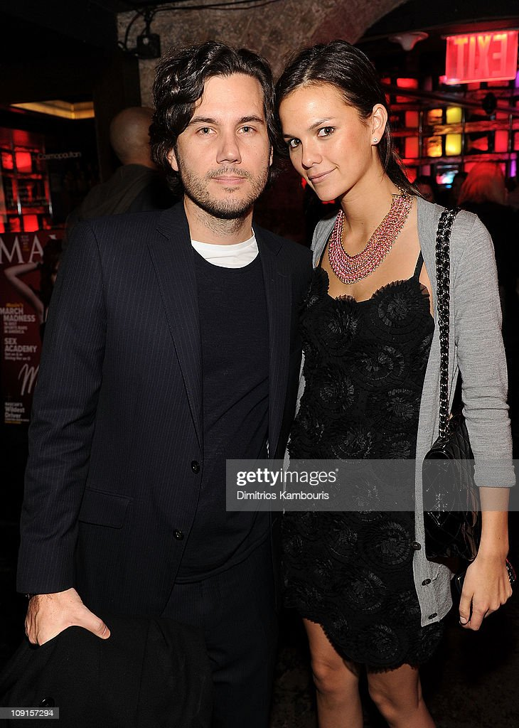 Scott Sartiano and Allie Rizzo attend Maxim's March Issue with Michelle Trachtenberg at SL on February 15 2011 in New York City