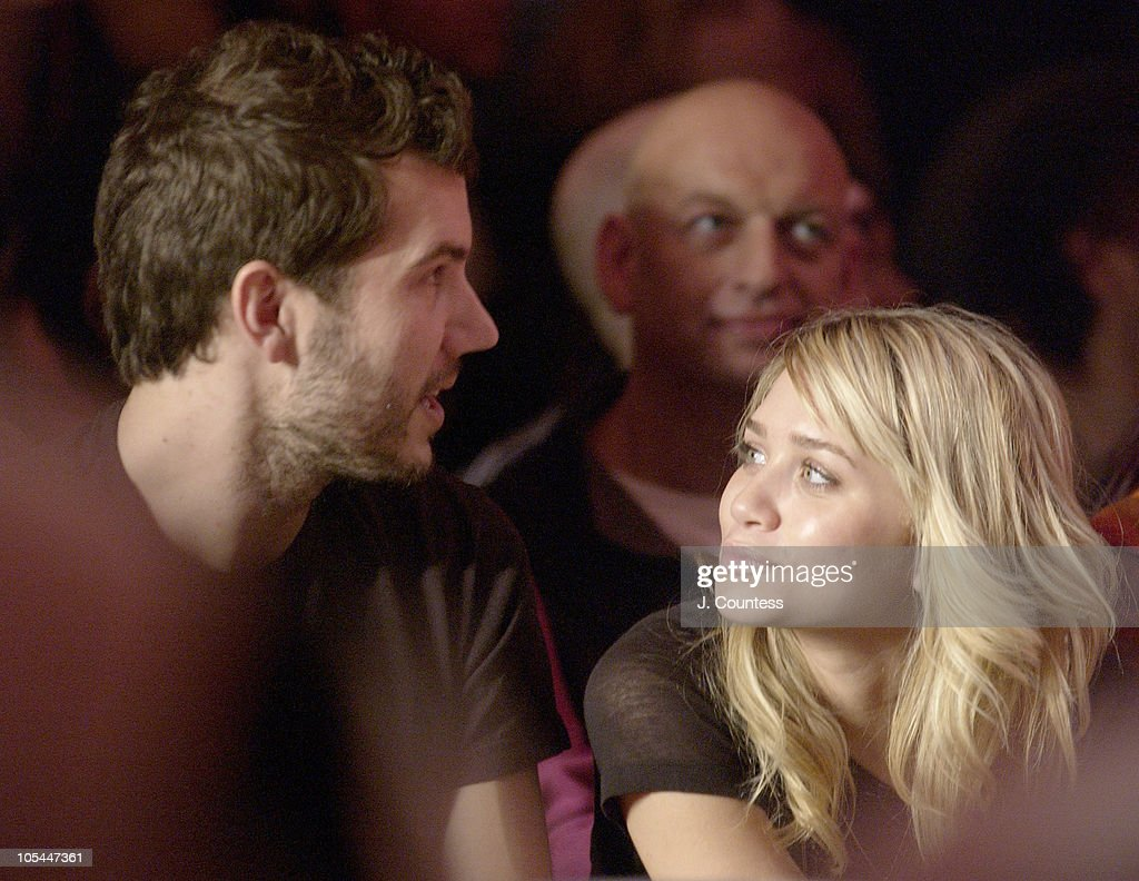 Scott Sartiano and Ashley Olsen during Olympus Fashion Week Fall 2005 Baby Phat Front Row and Backstage at Skylight Studios in New York City New York...