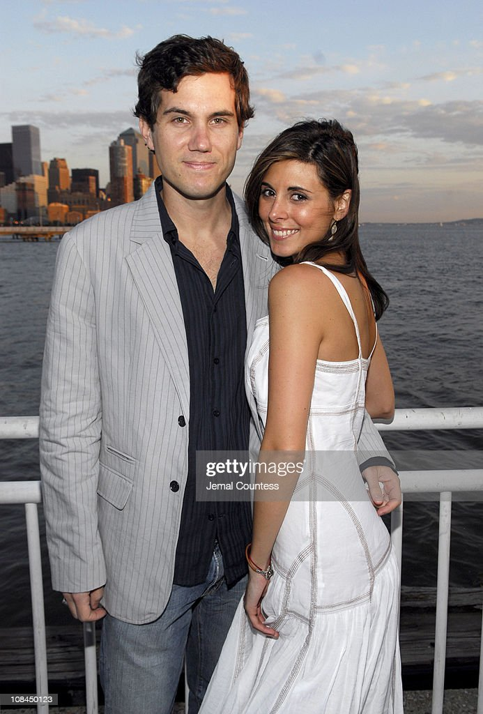 Scott Sartiano and JamieLynn Sigler during Armani Exchange and Nylon Magazine present the Sunset Soiree at Pier 40 in New York City New York United...