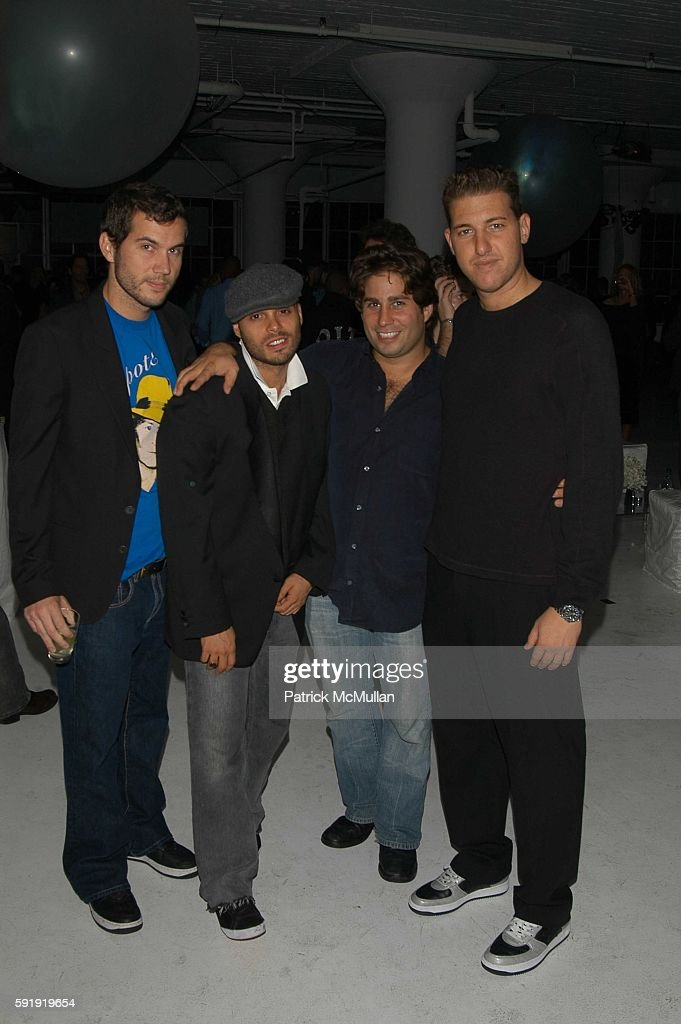 Scott Sartiano Richie Akiva Mike Heller and Jeff Goldstein attend SVEDKA Celebrates the Launch of Their New Ad Campaign at Peter White Studio on...