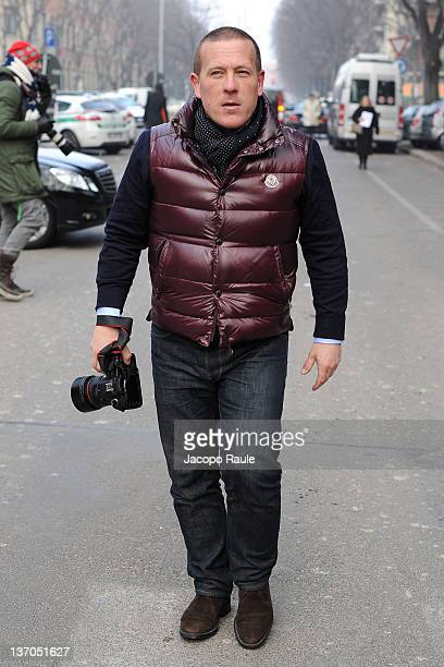Scott Schuman arrives at Emporio Armani during Milan Fashion Week Menswear Autumn/Winter 2012 on January 15 2012 in Milan Italy