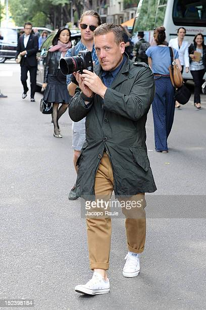 Scott Schuman arrives at Emporio Armani Fashion Show during Milan Fashion Week Womenswear S/S 2013 on September 20 2012 in Milan Italy