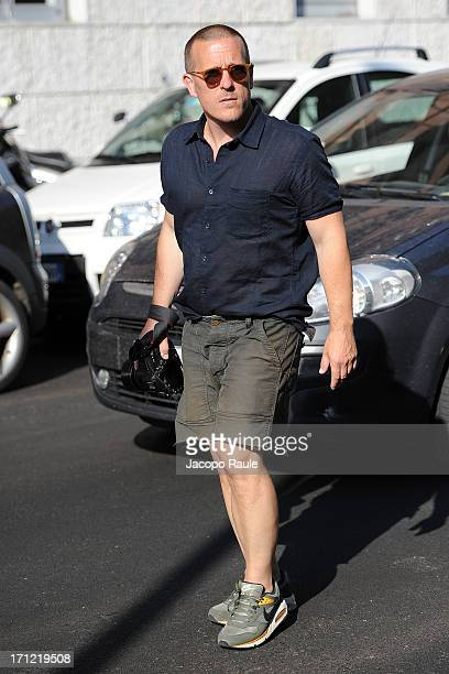 Scott Schuman arrives at Prada Fashion Show during during Milan Fashion Week Menswear Spring/Summer 2013 on June 23 2013 in Milan Italy