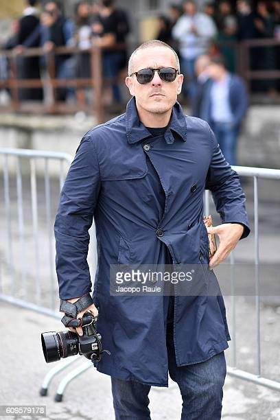 Scott Schuman arrives at the Gucci show during Milan Fashion Week Spring/Summer 2017 on September 21 2016 in Milan Italy