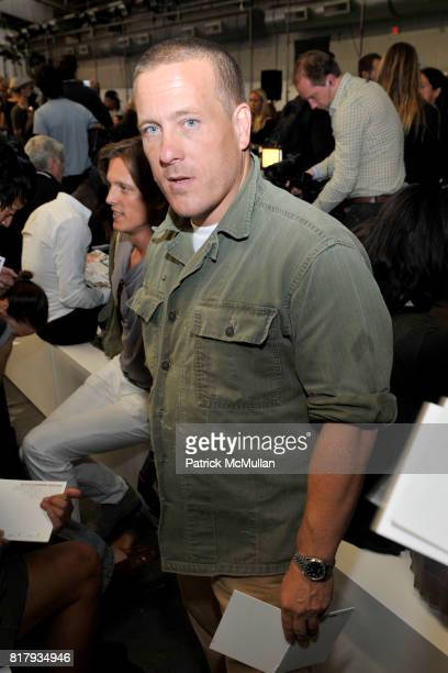 Scott Schuman attends ALEXANDER WANG Spring 2011 Fashion Show at Pier 94 West Side Highway on September 11 2010 in New York City