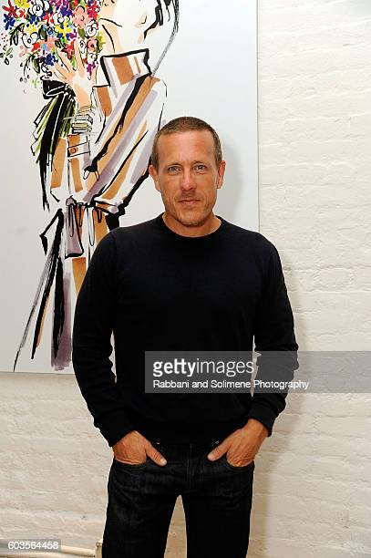 Scott Schuman attends an evening hosted by Monica Vinader to celebrate Fashion Artist Jenny Walton's illustrations of the iconic Signature bangle on...