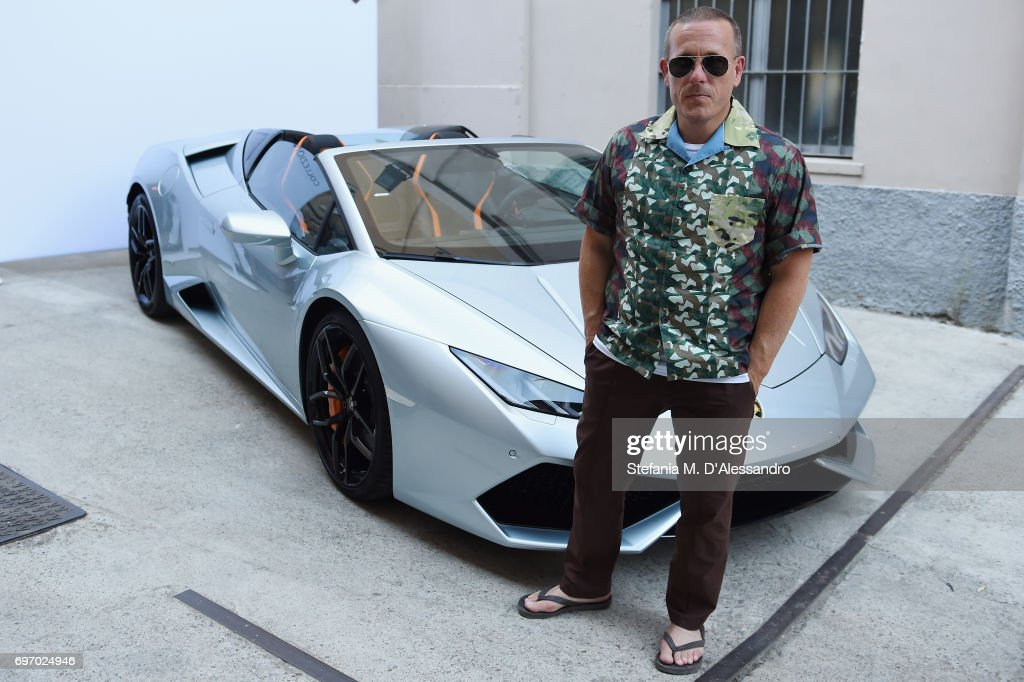 2018 lamborghini italy. interesting 2018 scott schuman attends lamborghini cocktail during milan menu0027s fashion week  springsummer 2018 on june inside lamborghini italy