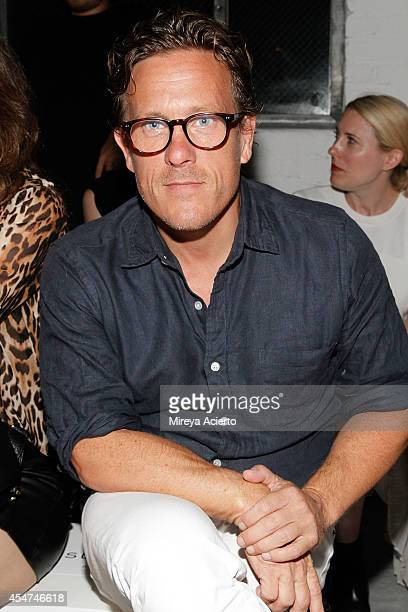 Scott Schuman attends Suno runway show during MercedesBenz Fashion Week Spring 2015 at Center 548 on September 5 2014 in New York City
