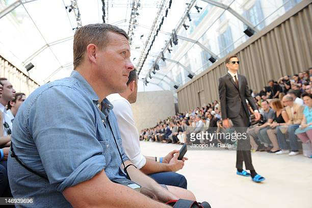 Scott Schuman attends the Burberry Prorsum show as part of Milan Fashion Week Menswear Spring/Summer 2013 on June 23 2012 in Milan Italy