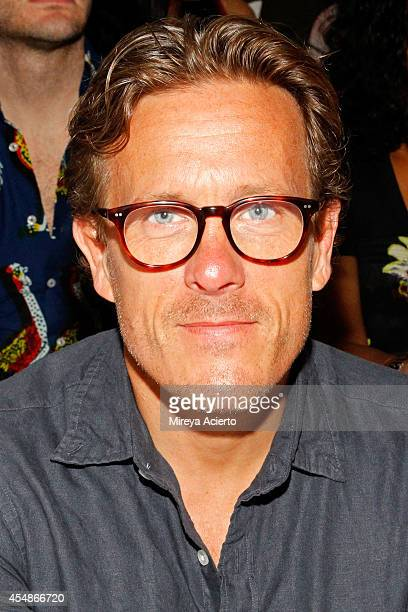 Scott Schuman attends the Public School fashion show during MercedesBenz Fashion Week Spring 2015 at Milk Studios on September 7 2014 in New York City
