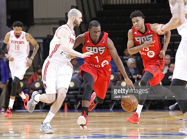 Scott Shannon of the Raptors 905 dribbles the ball against the Rio Grande Valley Vipers during Day Four of the 2016 NBA DLeague Showcase on January 9...