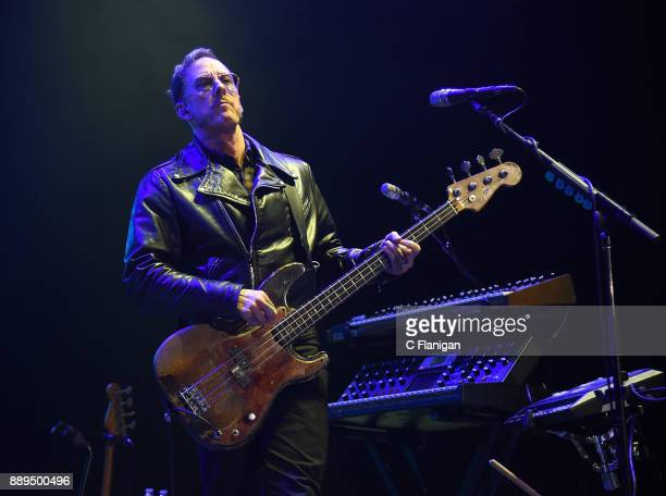 Scott Shriner of Weezer performs during Live 105's 2017 Not So Silent Night at ORACLE Arena on December 9 2017 in Oakland California