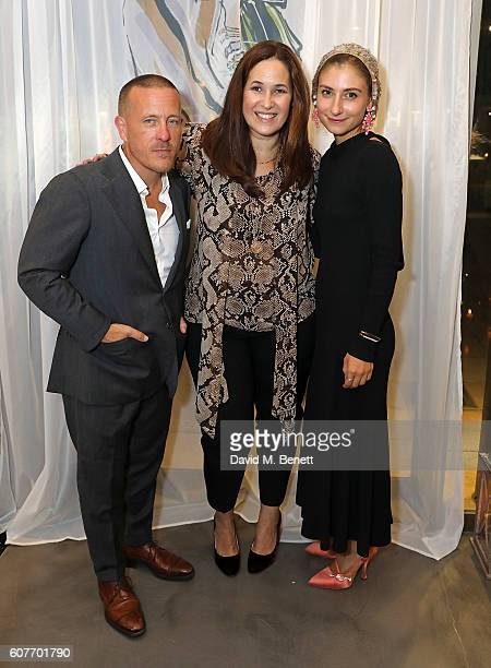 Scott Shuman Monica Vinader and Jenny Walton attend an intimate dinner hosted by Monica Vinader to celebrate Fashion Artist Jenny Walton's...