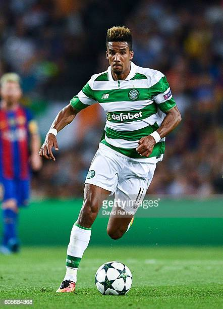 Scott Sinclair of Celtic FC runs with the ball during the UEFA Champions League Group C match between FC Barcelona and Celtic FC at Camp Nou on...