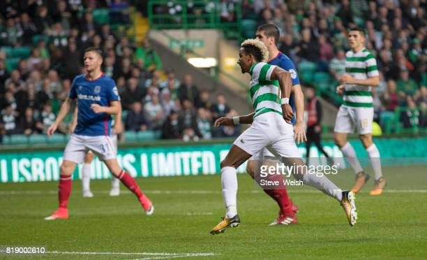 Scott Sinclair of Celtic scores Celtic's 2nd goal during the UEFA Champions League Qualifying Second RoundSecond Leg match between Celtic and...