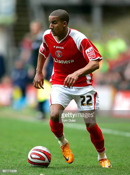 Scott Sinclair of Charlton Athletic in action during the Coca Cola Championship match between Charlton Athletic v Preston North End at The Valley on...