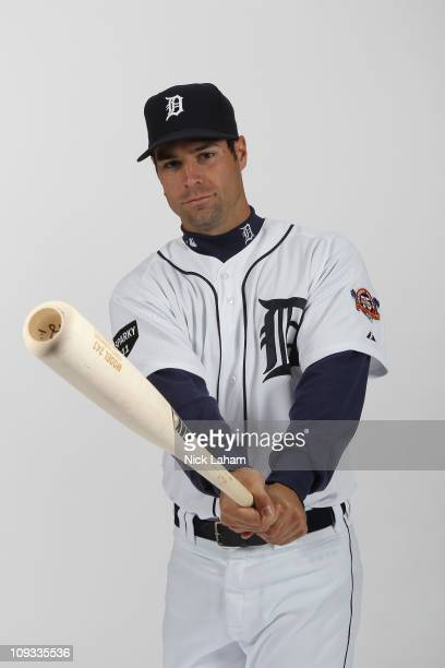 Scott Sizemore of the Detroit Tigers poses for a portrait during Photo Day on February 21 2011 at Joker Marchant Stadium in Lakeland Florida
