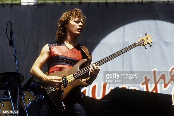 Scott Smith performs with 'Iron Maiden' at the Oakland Coliseum in Oakland California on July 18 1982