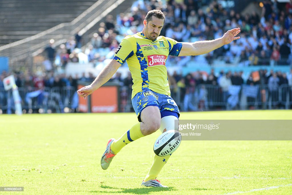 Scott Spedding of Clermont during the French Top 14 rugby union match between Racing 92 v Clermont at Stade Yves Du Manoir on May 1, 2016 in Colombes, France. (Photo by Dave Winter/Icon Sport via Getty Images)=
