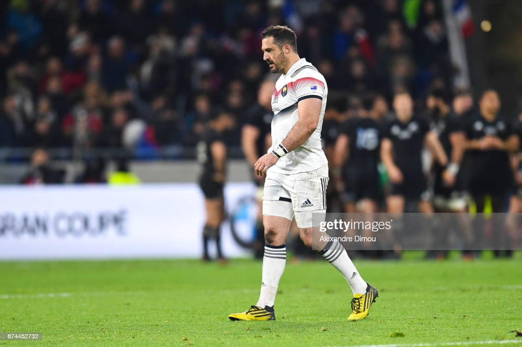 Scott Spedding of France during the rugby test match between France and New Zealand at Stade des Lumieres on November 14, 2017 in Lyon, France.