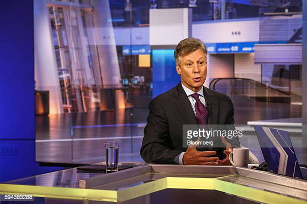 Scott Sperling copresident of Thomas Lee Partners LP speaks during a Bloomberg Television interview in New York US on Tuesday Aug 23 2016 Sperling...