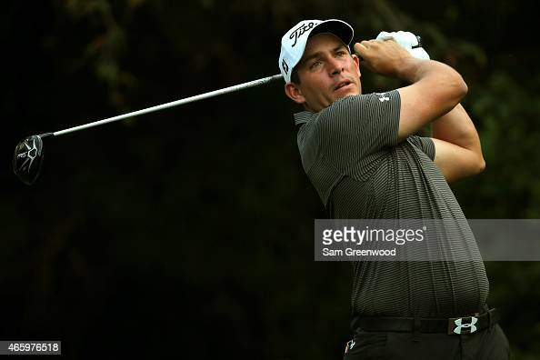 Scott Stallings hits off the 11th tee during the first round of the Valspar Championship at Innisbrook Resort Copperhead Course on March 12 2015 in...