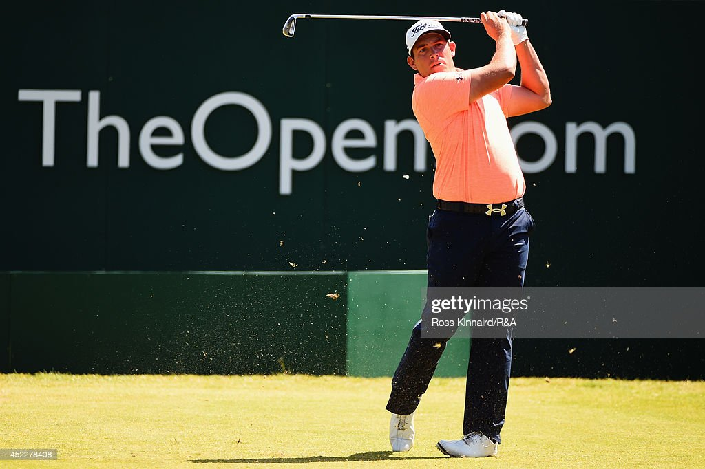 Scott Stallings of the United States hits his tee shot on the first hole during the first round of The 143rd Open Championship at Royal Liverpool on July 17, 2014 in Hoylake, England.