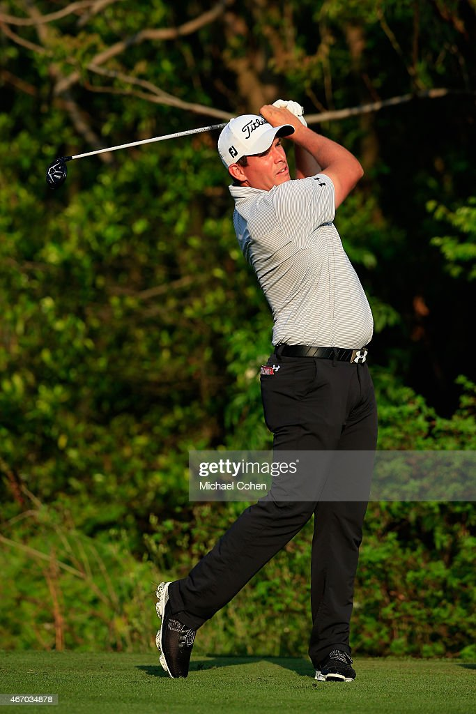 Scott Stallings of the United States hits his tee shot on the third hole during the second round of the Arnold Palmer Invitational Presented By...