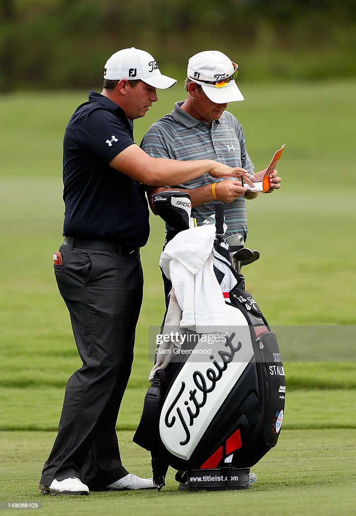<a gi-track='captionPersonalityLinkClicked' href=/galleries/search?phrase=Scott+Stallings&family=editorial&specificpeople=6660711 ng-click='$event.stopPropagation()'>Scott Stallings</a> plays a shot on the 5th hole during the final round of the True South Classic at Annandale Golf Club on July 22, 2012 in Madison, Mississippi.