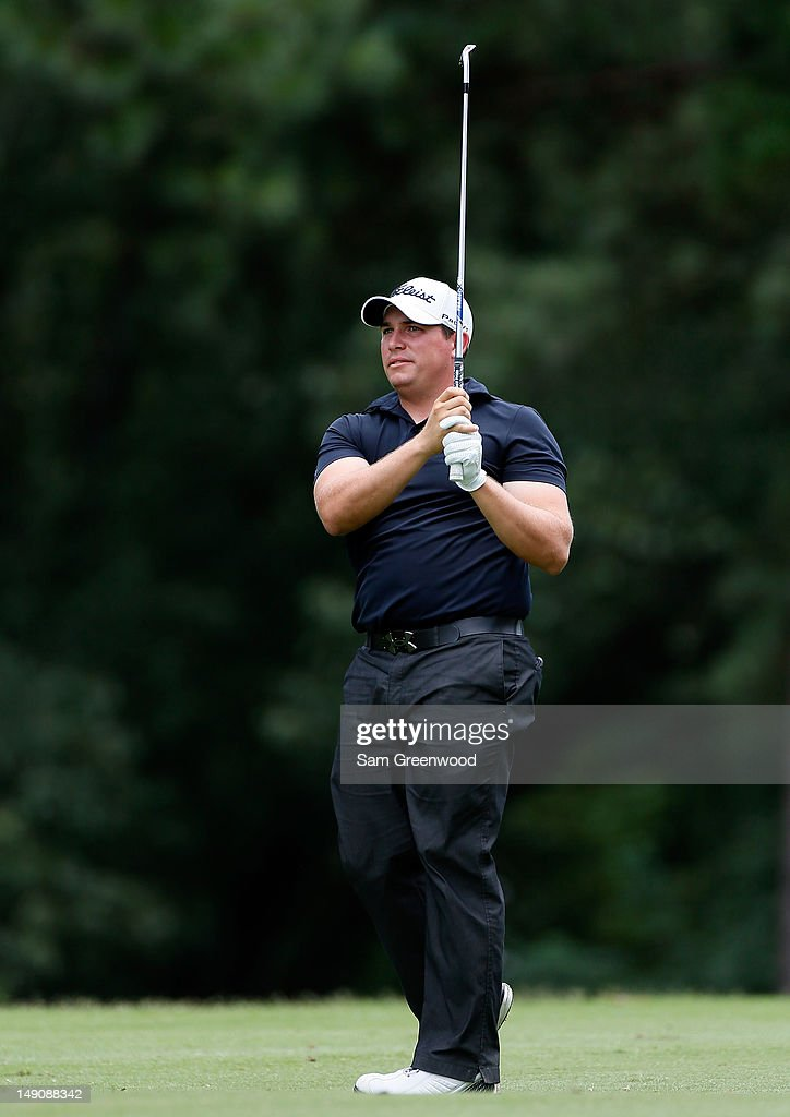 <a gi-track='captionPersonalityLinkClicked' href=/galleries/search?phrase=Scott+Stallings&family=editorial&specificpeople=6660711 ng-click='$event.stopPropagation()'>Scott Stallings</a> plays a shot on the 9th hole during the final round of the True South Classic at Annandale Golf Club on July 22, 2012 in Madison, Mississippi.