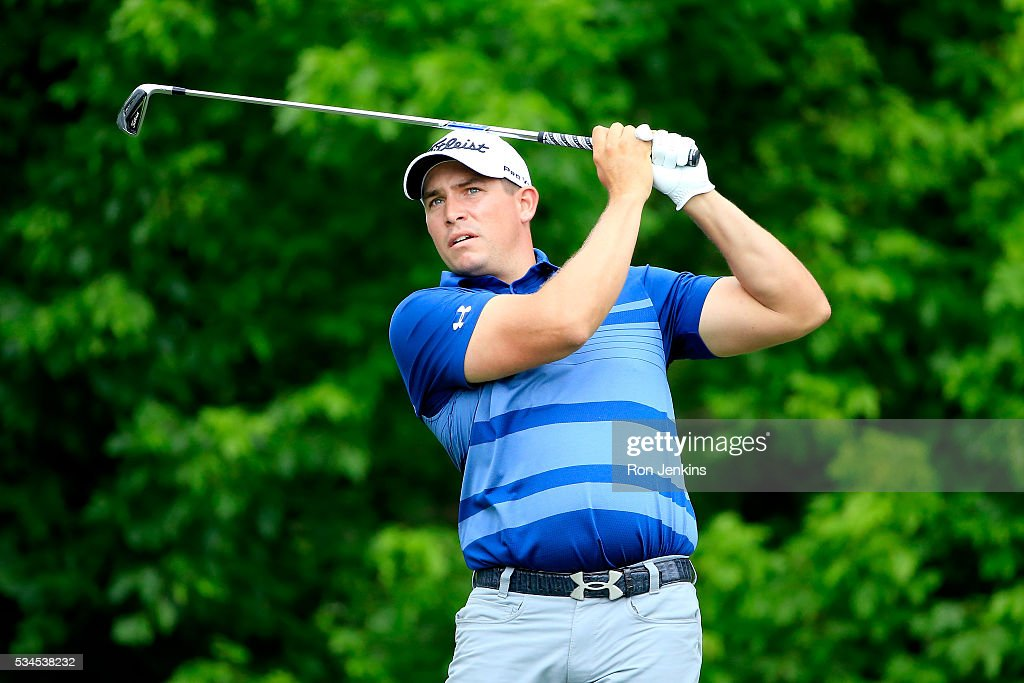 <a gi-track='captionPersonalityLinkClicked' href=/galleries/search?phrase=Scott+Stallings&family=editorial&specificpeople=6660711 ng-click='$event.stopPropagation()'>Scott Stallings</a> plays his shot from the eighth tee during the First Round of the DEAN & DELUCA Invitational at Colonial Country Club on May 26, 2016 in Fort Worth, Texas.