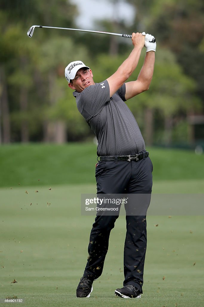 Scott Stallings plays his shot on the third hole during the third round of The Honda Classic at PGA National Resort Spa Champion Course on March 1...