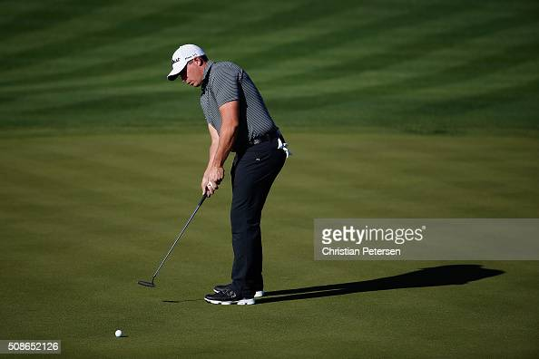 Scott Stallings putts during the second round of the Waste Management Phoenix Open at TPC Scottsdale on February 5 2016 in Scottsdale Arizona