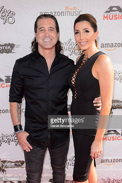 Scott Stapp and Jaclyn Stapp attend the Alternative Press Music Awards 2016 at Jerome Schottenstein Center on July 18 2016 in Columbus Ohio