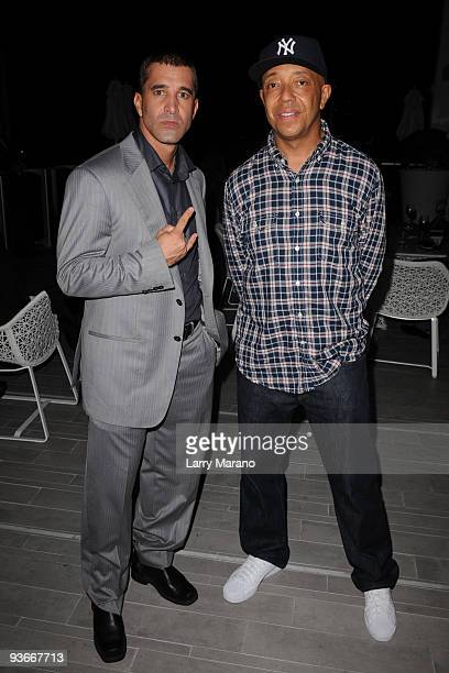 Scott Stapp and Russell Simmons pose at the Rush Philanthropic Arts foundation at Mondrian Miami on December 2 2009 in Miami Beach Florida