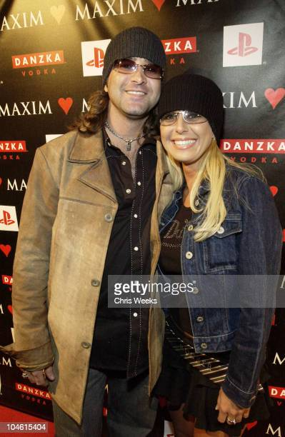 Scott Stapp and sister Amanda during Maxim Love Party at Papaz in Hollywood California United States