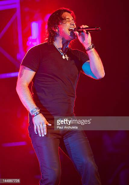 Scott Stapp of the Rock Band Creed performs in concert with Eve To Adam at The Wiltern on May 15 2012 in Los Angeles California