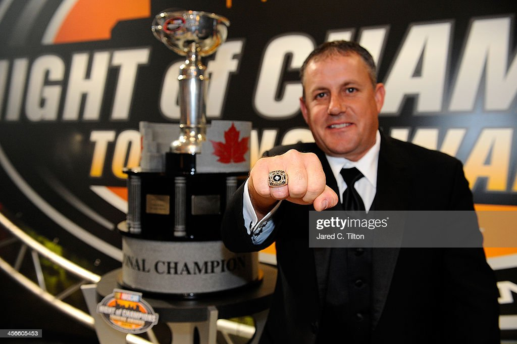 Scott Steckly, NASCAR Canadian Tire Series Champion, poses for a photo opportunity after the NASCAR Night of Champions at Charlotte Convention Center on December 14, 2013 in Charlotte, North Carolina.