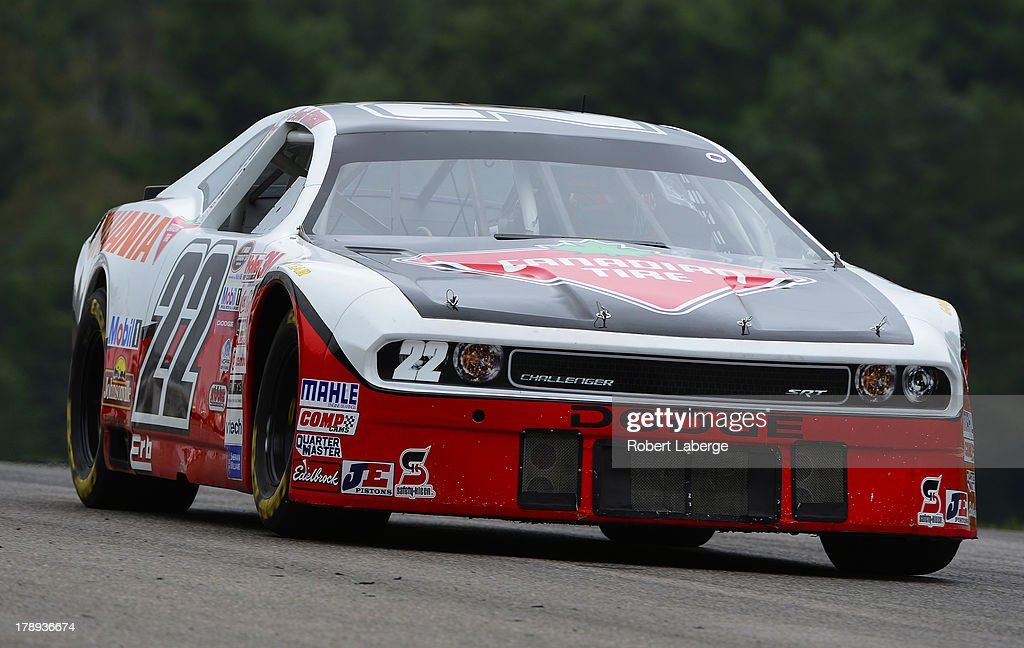 Scott Steckly of Canada, driver of the #22 22 Racing Dodge, practices for the NASCAR Canadian Tire Series presented by Mobil 1 Pinty's presents the Clarington 200 at the Canadian Tire Motorsports Park on August 30, 2013 in Bowmanville, Ontario, Canada.